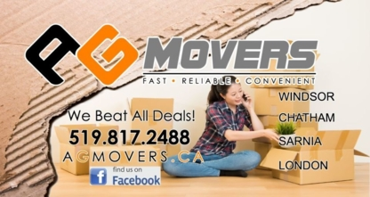 AG Movers - Moving Services & Storage Facilities - 519-817-2488