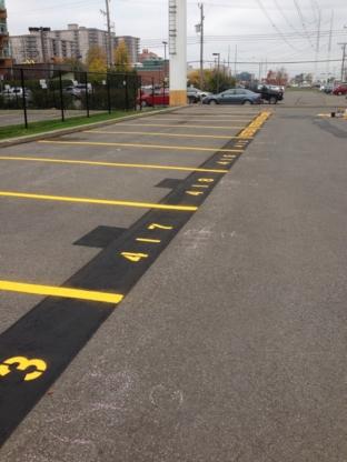Marquage Scellant Pavement - Traçage et entretien de stationnement - 514-576-7218