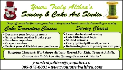 Yours Truly Althea - Cake Making Supplies & Decorations - 905-875-6881