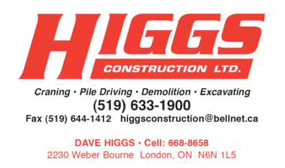 Higgs Construction Ltd - Sand & Gravel - 519-633-1900