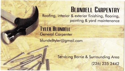 Blundell Carpentry - Home Improvements & Renovations - 226-235-2442