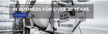 Mac-Mix Concrete Ltd - Concrete Products - 709-744-2383