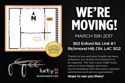 Lucky Eight Auto Repair Ltd. - Car Repair & Service - 905-237-5383