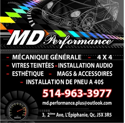 Md Performance Plus - Auto Repair Garages - 514-963-3977
