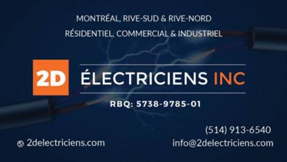 View 2D Electriciens Inc's Montréal profile