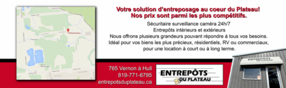Entrepots Du Plateau - Moving Services & Storage Facilities