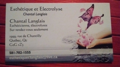 Esthétique et Electrolyse Chantal Langlais - Eyebrow Threading - 581-702-1555