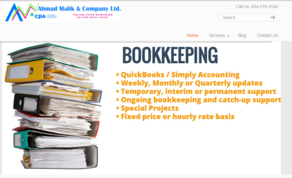 Ahmad Malik & Company Ltd - Accountants - 604-576-8540