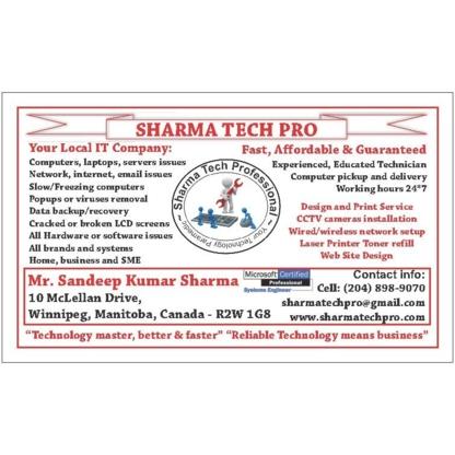 Sandeep Kumar Sharma - Réparation d'ordinateurs et entretien informatique