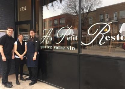 Restaurant Au Petit Resto - Restaurants - 514-598-7963