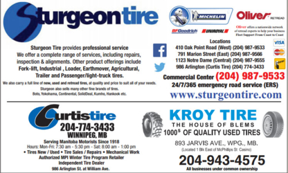 Kroy Tire - Used Tire Dealers - 204-943-4575