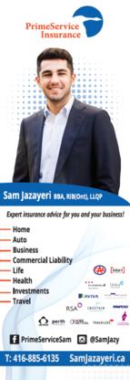 Sam Jazayeri - Prime Service Insurance - Courtiers et agents d'assurance - 416-885-6135