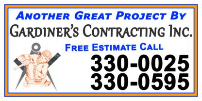 Gardiner's Contracting Inc - Home Improvements & Renovations - 709-330-0025