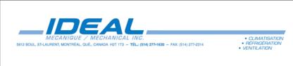 Idéal Mécanique / Mechanical Inc - Entrepreneurs en climatisation - 514-277-1630