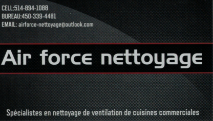 Air force nettoyage inc - Duct Cleaning