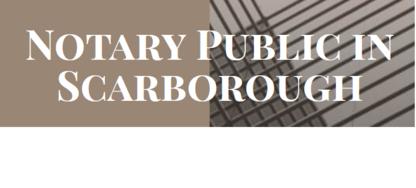 Voir le profil de Notary Public in Scarborough - Unionville
