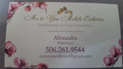 Me to You Mobile Esthetics - Waxing - 506-261-9544
