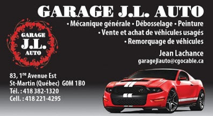 Garage J L Auto - Auto Repair Garages - 418-382-1320
