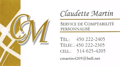 Claudette Martin Comptabilité Générale - Services de comptabilité