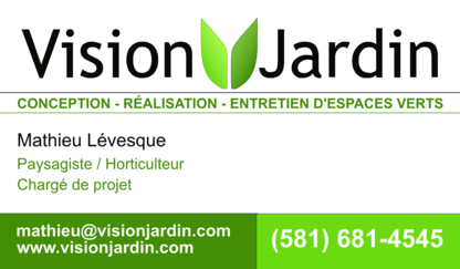 Vision Jardin - Landscape Contractors & Designers - 581-681-4545