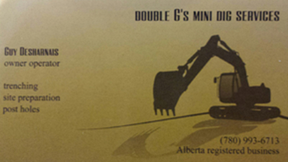 Double G's Mini Dig & Skid Steer Services - Excavation Contractors - 780-993-6713