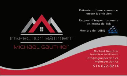 Michael Gauthier Inspection Bâtiment - Plombiers et entrepreneurs en plomberie - 514-622-8214