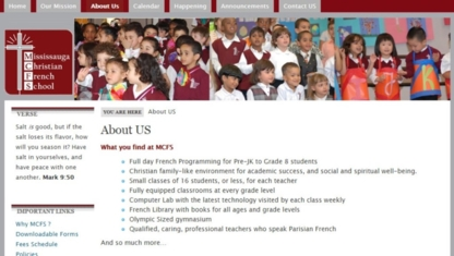 Mississauga Christian French School - Elementary & High Schools - 905-567-4032
