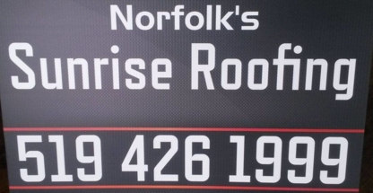 Norfolk's Sunrise Roofing - Couvreurs - 519-426-1999