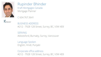 Rupinder Bhinder - Mortgages - 604-767-3641