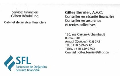Services Financiers Gilbert Bérubé Inc - Health, Travel & Life Insurance - 418-629-2732