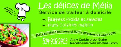 Les délices de Mélia - Restaurants - 514-916-2403