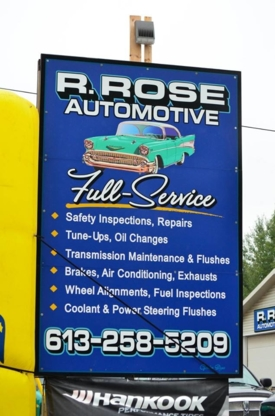 R Rose Automotive - Auto Repair Garages - 613-258-5209