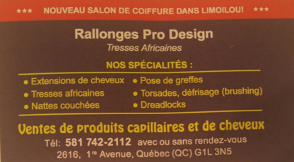 Rallonges Pro Design Tresses Africaines - Rallonges capillaires - 581-742-2112