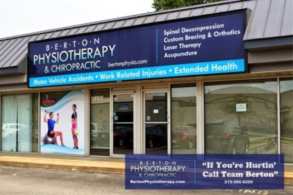 Berton Physiotherapy & Chiropractic - Physiotherapists - 519-966-8200