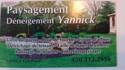 Paysagement Déneigement Yannick - Landscape Contractors & Designers - 450-512-2956