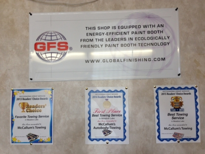 McCallum's Autobody LTD & Towing - Auto Body Repair & Painting Shops - 306-236-5099
