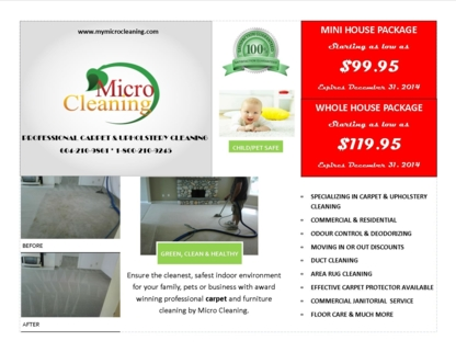 Micro Cleaning Services - Dry Cleaners - 604-210-9861