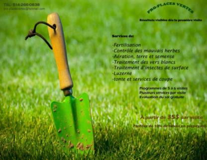 Pro-Places Vertes - Paysagistes et aménagement extérieur - 514-266-0838
