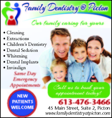 Family Dentistry at Picton - Teeth Whitening Services - 613-476-3466