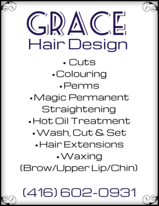Grace hair design & spa - Hair Stylists - 416-602-0931
