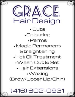 Grace hair design & spa - Coiffeurs-stylistes - 416-602-0931