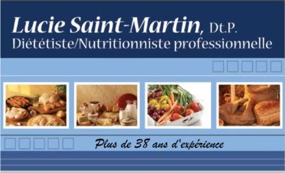 Lucie Saint-Martin Nutritionniste Diététiste - Dietitians & Nutritionists - 450-349-3438
