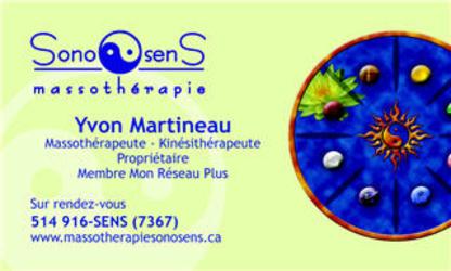 Massothérapie SonoSens - Physiothérapeutes
