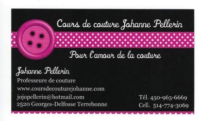Cours de Couture Johanne Pellerin - Sewing Contractors - 450-965-6669