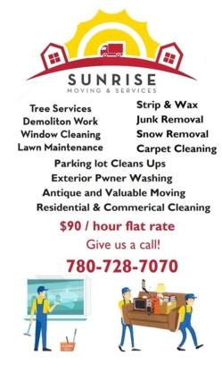 Sunrise Moving & Services - Déménagement et entreposage - 780-728-7070