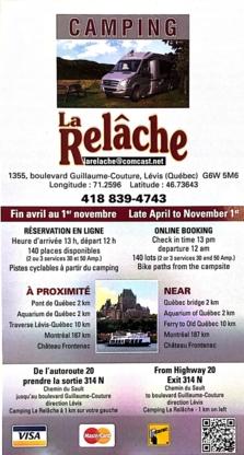 Camping La Relâche - Terrains de camping - 418-839-4743
