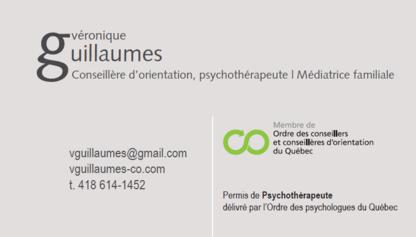 Véronique Guillaumes, C.O., Psychothérapeute / Médiatrice Familiale - Conseillers en orientation - 418-614-1452