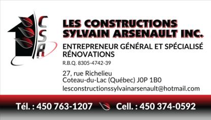 Les Constructions Sylvain Arsenault Inc - General Contractors - 450-374-0592