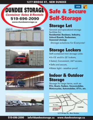Dundee Storage - Storage, Freight & Cargo Containers - 519-696-2090