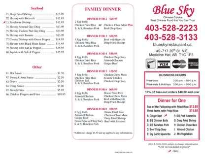 Blue Sky Restaurant - Chinese Food Restaurants